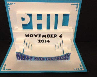 Birthday Pop Up Card Personalized