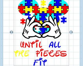 Autism Mickey head- SUBLIMATION DESIGN.