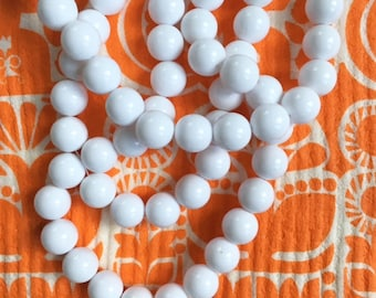 Bright White Beads, 12mm, 20Pcs