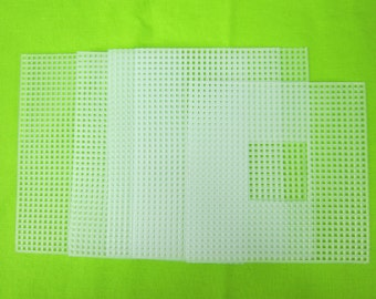 Plastic Canvas Supply, plastic canvas 7 mesh tissue box cutout, clear plastic canvas, free shipping