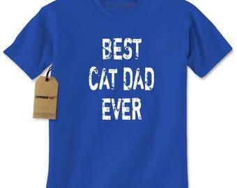 Best Cat Dad Ever Mens T-shirt