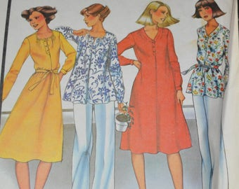 Vintage McCalls 5626 Sewing Pattern, Loose Fitting Dress, Shirt,  Tunic Top, Smock Top Size 24 Bust 46 UNCUT