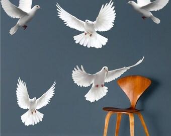 Dove Wall Decals, Bird Wall Designs, Dove Wall Murals, Dove Wall Designs, a26