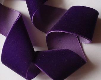 3 yards 1.5 inches Velvet Ribbon in Purple RY15-089