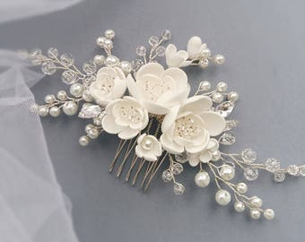 Pearl Bridal hair comb, Bridal hair piece, Wedding hair comb, Bridal headpiece, Wedding headpiece, Wedding hair piece, Bridal head piece