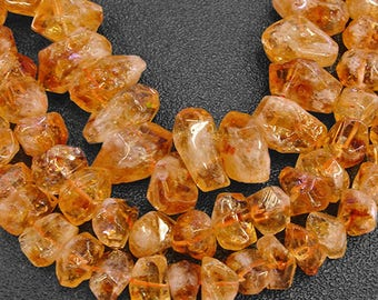 15.5 inch Citrine Feceted Nuggets Beads, Natural Crystal Beads,9x13mm Approx 43beads 13x17mm Approx 30beads 15x20mm Approx 20beads