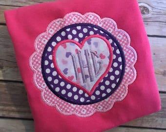 scalloped heart valentine's day ruffle shirt
