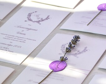 Il340x27012938804364leugversion1 10 handmade lavender wedding invitations lavender wedding purple wreath wedding invitation floral lavender junglespirit Choice Image