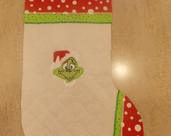Grinch Christmas stocking