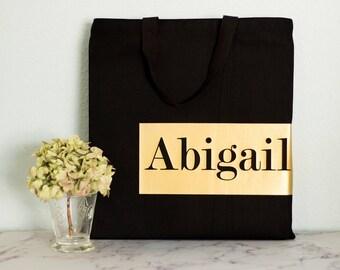 Bridesmaid gift totes - Gold - Bridesmaid gift - Tote bags