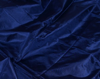 Fine Indian Silk taffeta in Navy Blue - fat quarter -TF 67
