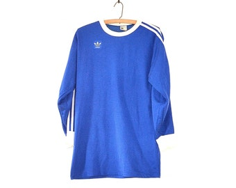 Adidas Shirt - Vintage 70s Adidas Soccer Jersey - Trefoil Adidas T Shirt - Retro Adidas Soccer Shirt - 70s Ringer T Shirt