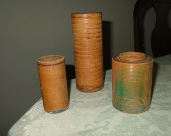 Vintage Wood Bobbin Spools Set of 3!