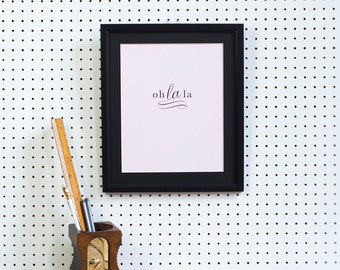 Oh la la typographic print - french word print - bedside print - stocking filler - girlfriend gift - gift for friend - paris is a good idea