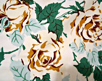Tablecloth Cotton Linen Tablecloth Yellow Roses Bouquets of Flowers