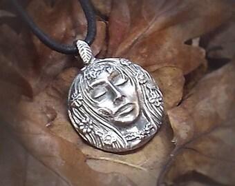 Goddess Pendant in Pewter