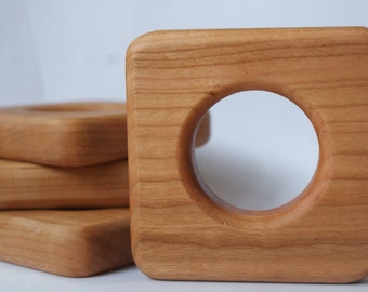 Square Wooden Teether