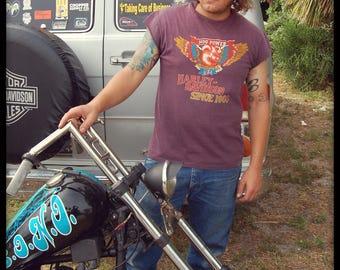 RARE 70s Vintage Harley-Davidson Hog Power USA