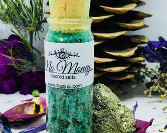 Rita's Mo Money Witches Sacred Salt - Witchcraft, Hoodoo, Pagan, Conjure, Wicca, Spiritual Supplies