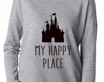 My Happy Place, Disney lover, Gift for Disney lover, Magic Kingdom, Castle, Cinderella's Castle, Happiest place on Earth, Mickey Mouse