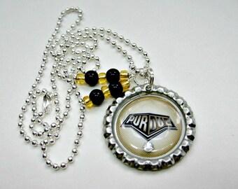 Purdue University, Purdue Boilermakers, Purdue Jewelry, Purdue Necklace, Purdue Accessories, College Girl Gift, Boilermakers Jewelry