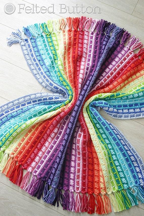Crochet Pattern Color Reel Blanket Baby Throw Afghan