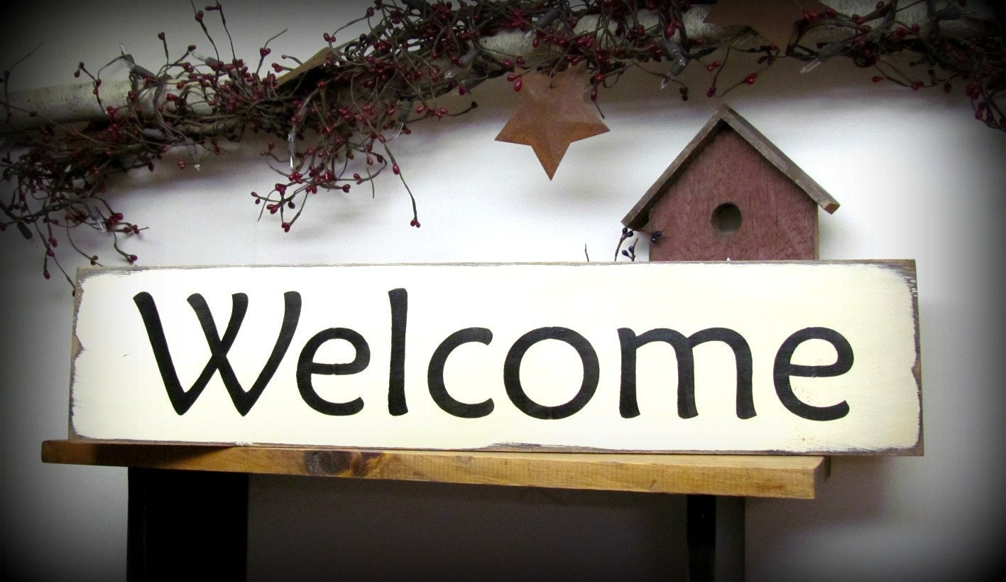 Wood Welcome Sign Front Door Decor Welcome Housewarming