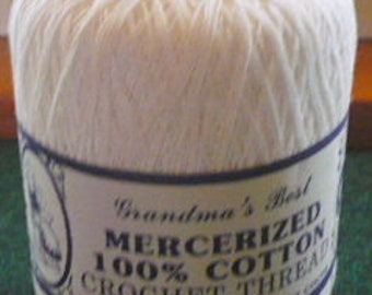 New Listing - 2 -  Grandma's Best Crochet Thread Bedspread Weight - 1 -504 - Black - 500 Yd - 276 - 1 -  White - 400 Yd- Price Is For Each