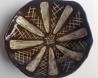 Pottery, Inlayed Serving Plate