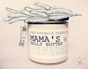 Mama's Organic Belly Butter | Belly Balm | Pregnancy Gift | Pregnant Gift | Organic Stretch Mark Cream |  Baby Reveal Gift | New Mother Gift