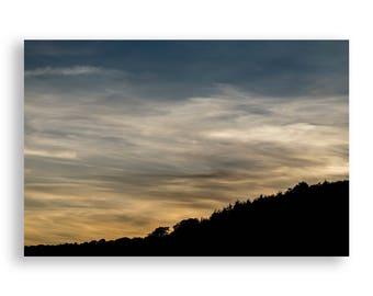 Yellow and Blue Minimal Sunset Print