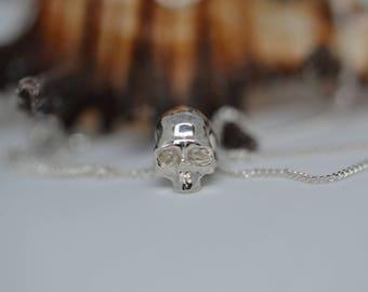 Silver Mini Skull Pendant