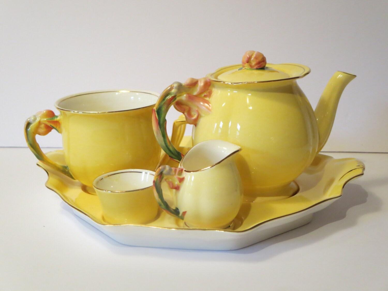 Tea set royal winton grimwades breakfast service yellow zoom reviewsmspy