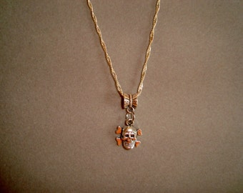 Tiny Silver Skull Necklace - Skull Hangs From Bail - Fun Jewelry - Choose the Necklace Length from 14 Inches to 30 inches