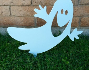 Ghost, Halloween Decor, Halloween Yard Sign, Halloween Ghost, Metal Ghost, Outdoor Halloween Decorations, Aluminum