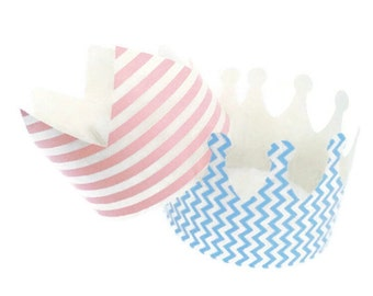 Party Prince and Princess Crowns - Princess Party - Baby shower Princess - First Birthday party crowns - Paper Crowns - Little Prince