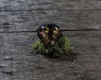 Electroformed Included Quartz Forest Ring // Lodolite Ring