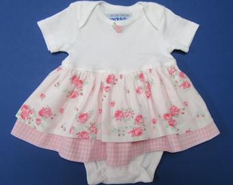6-9 Months Baby Girl Ruffle Dress onesie