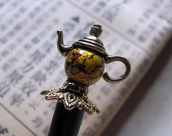 Not For All The Tea In China Teapot Hair Stick or Shawl Pin