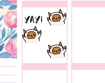 YAY! Happy Cats | Planner Stickers |