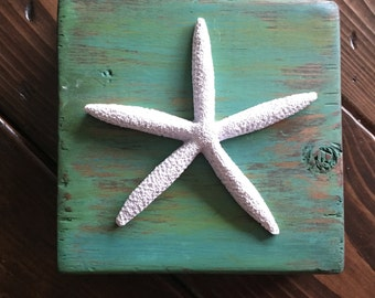 Starfish Wooden Block