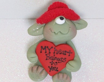 "One eyed monster love: Valentine Monster, ""My heart belongs to you"""