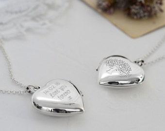Sterling Silver Tree Heart Locket