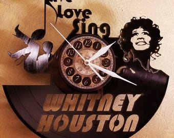 WHITNEY HOUSTON vinyl record clock