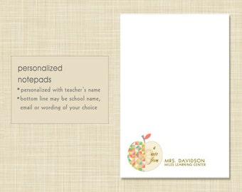 Teacher Notepad - Geometric Apple - teacher gift