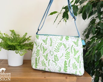 Ferns Handbag, Cross Body Bag, Shoulder Bag, Floral Bag, Floral Gift