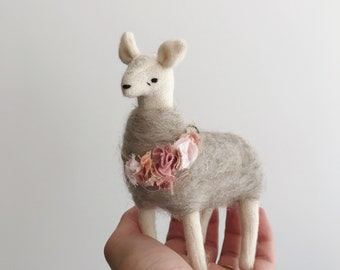 tiny alpaca ornament prototype | soft sculpture animal