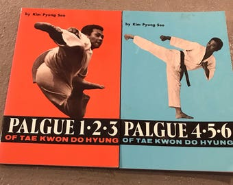 Palgue of Tae Kwon Do Hyung Books, Vintage Tae Kwon Do Books, Vintage Martial Arts Books, Martial Arts Books