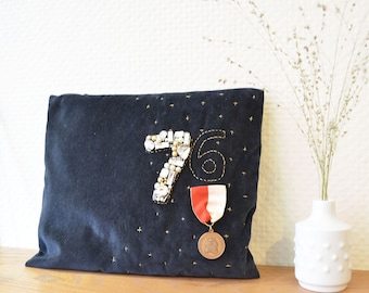 Velvet-Couture Pouch made by LA MAISON76