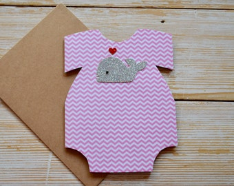 Baby Card For Girl, Baby Greeting Card For Girl, New Baby Card For Girl, Baby Shower Card, Cute Baby Card For Girl